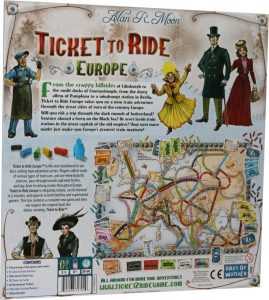Ticket to Ride - Europe - Back