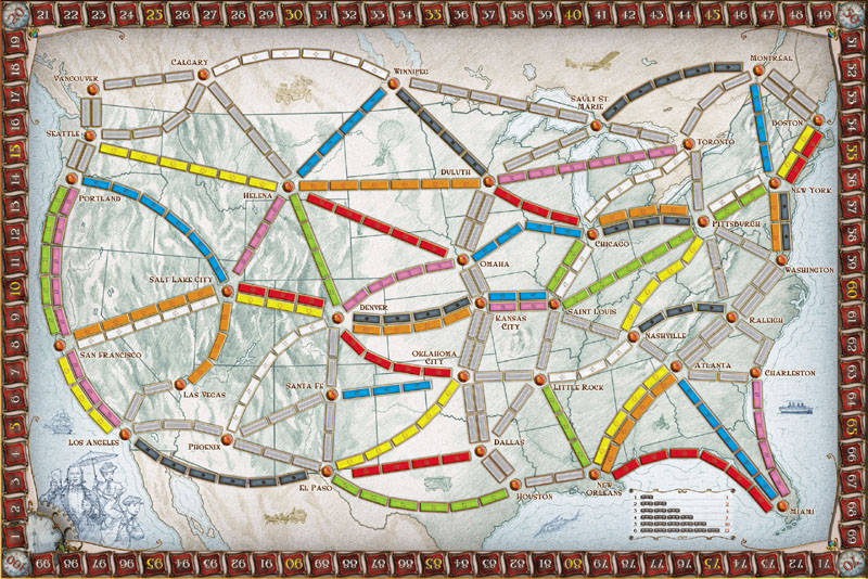 Ticket to Ride USA - Board